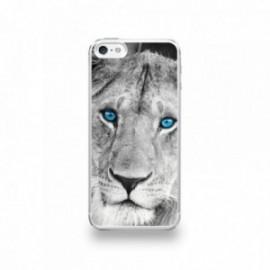 Coque  iPhone 5/5S/SE Silicone motif Lionne aux Yeux Bleus