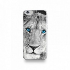 Coque  iPhone 6/6S Silicone motif Lionne aux Yeux Bleus
