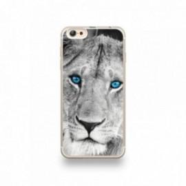 Coque iPhone 6 plus / 6S plus Silicone motif Lionne aux Yeux Bleus