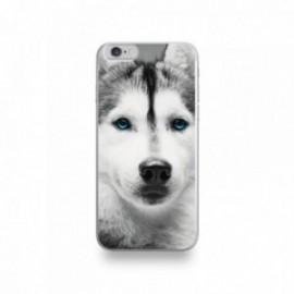Coque  iPhone 6/6S Silicone motif Husky aux Yeux Bleus