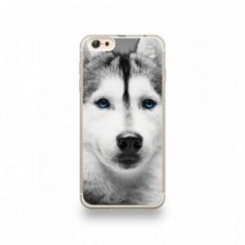 Coque iPhone 6 plus / 6S plus Silicone motif Husky aux Yeux Bleus