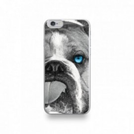 Coque  iPhone 6/6S Silicone motif Bulldog aux Yeux Bleus