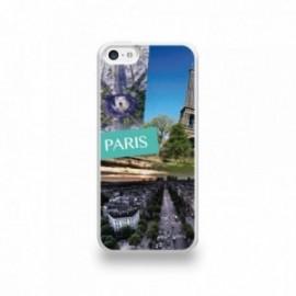 Coque  iPhone 5C Silicone motif Vue de Paris
