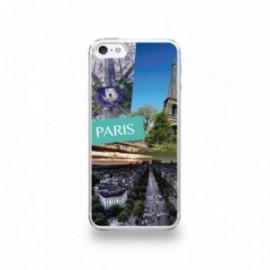 Coque  iPhone 5/5S/SE Silicone motif Vue de Paris