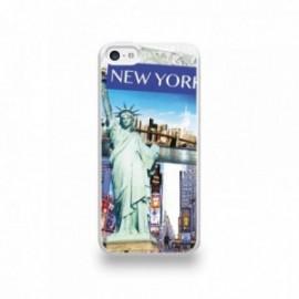 Coque  iPhone 5C Silicone motif Vue de New-York