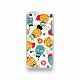 Coque  iPhone 5C Silicone motif Tete Mexicaine Moustachu