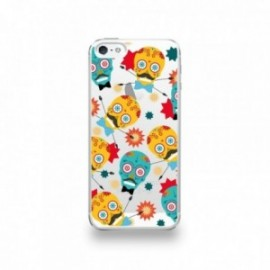 Coque  iPhone 5/5S/SE Silicone motif Tete Mexicaine Moustachu