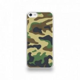 Coque  iPhone 5C Silicone motif Camouflage Vert Kaki