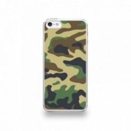 Coque  iPhone 5/5S/SE Silicone motif Camouflage Vert Kaki