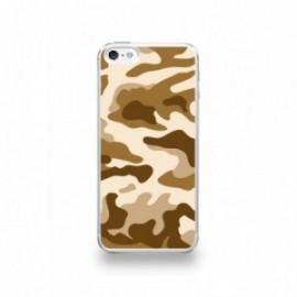 Coque  iPhone 5/5S/SE Silicone motif Camouflage Marron