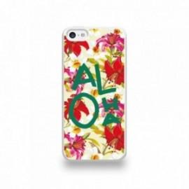 Coque  iPhone 5C Silicone motif Aloha Vert