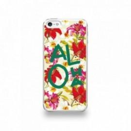Coque  iPhone 5/5S/SE Silicone motif Aloha Vert
