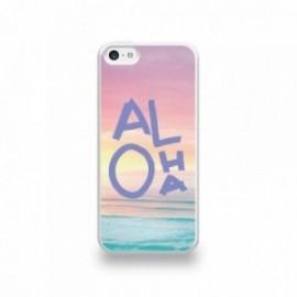 Coque  iPhone 5C Silicone motif Aloha Violet