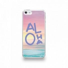 Coque  iPhone 5/5S/SE Silicone motif Aloha Violet