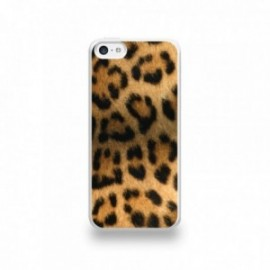 Coque  iPhone 5C Silicone motif Peau de Leopard
