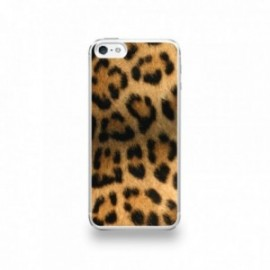 Coque  iPhone 5/5S/SE Silicone motif Peau de Leopard