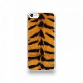 Coque  iPhone 5C Silicone motif Peau de Tigre