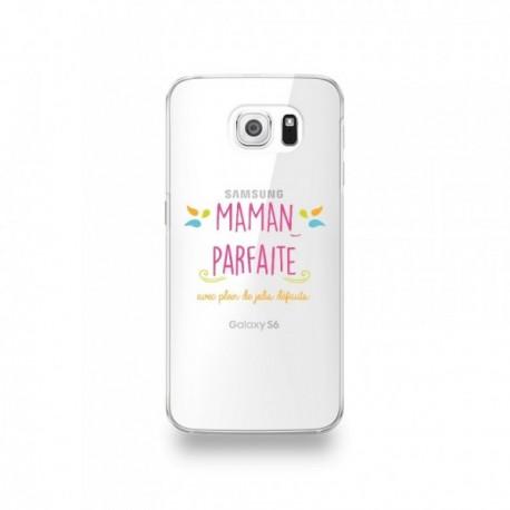 Coque Samsung Galaxy S6 Edge Silicone motif Maman Parfaite