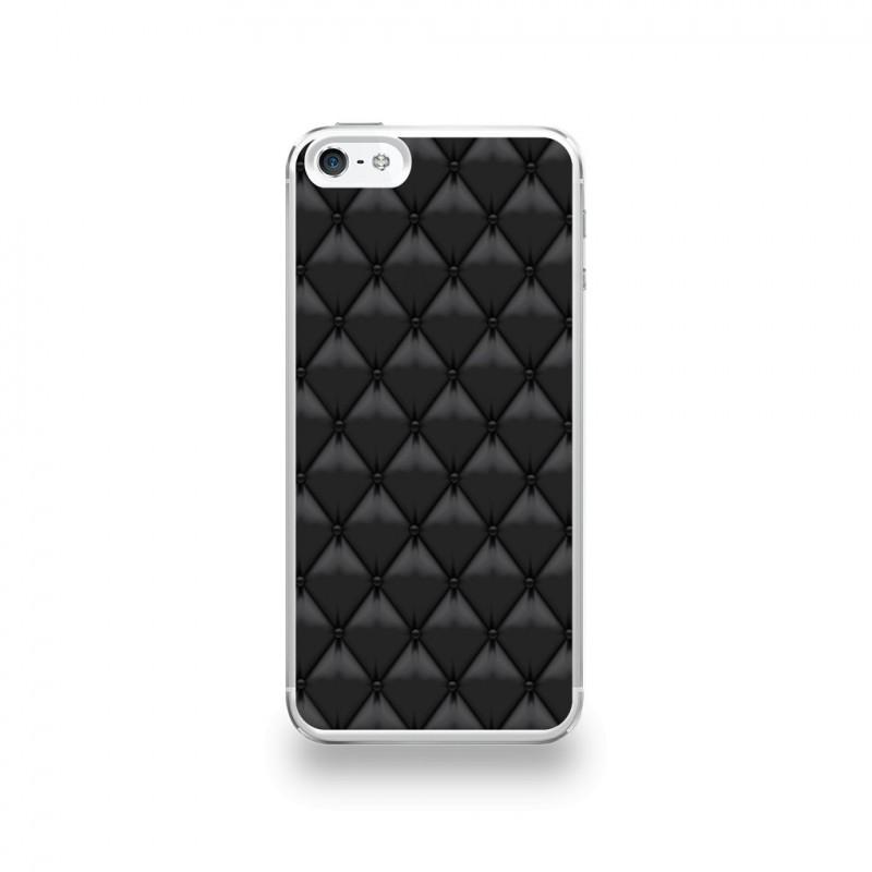 coque iphone 5 5s se silicone motif matelasse cuir
