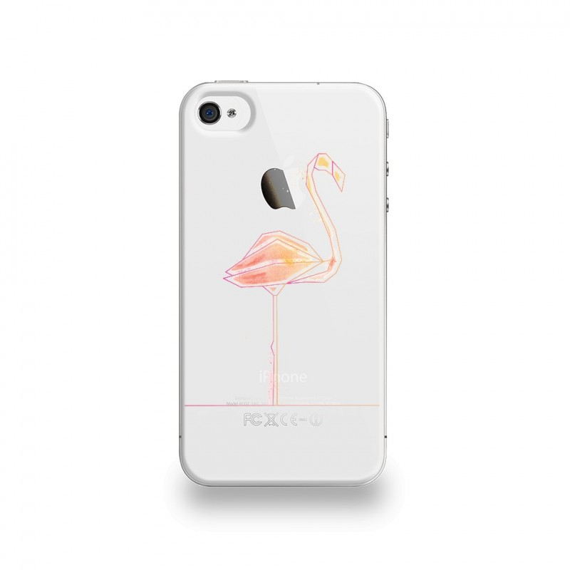 coque iphone 7 silicone flamant rose