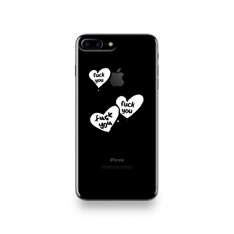 coque iphone 7 plus silicone motif ballons fuck you