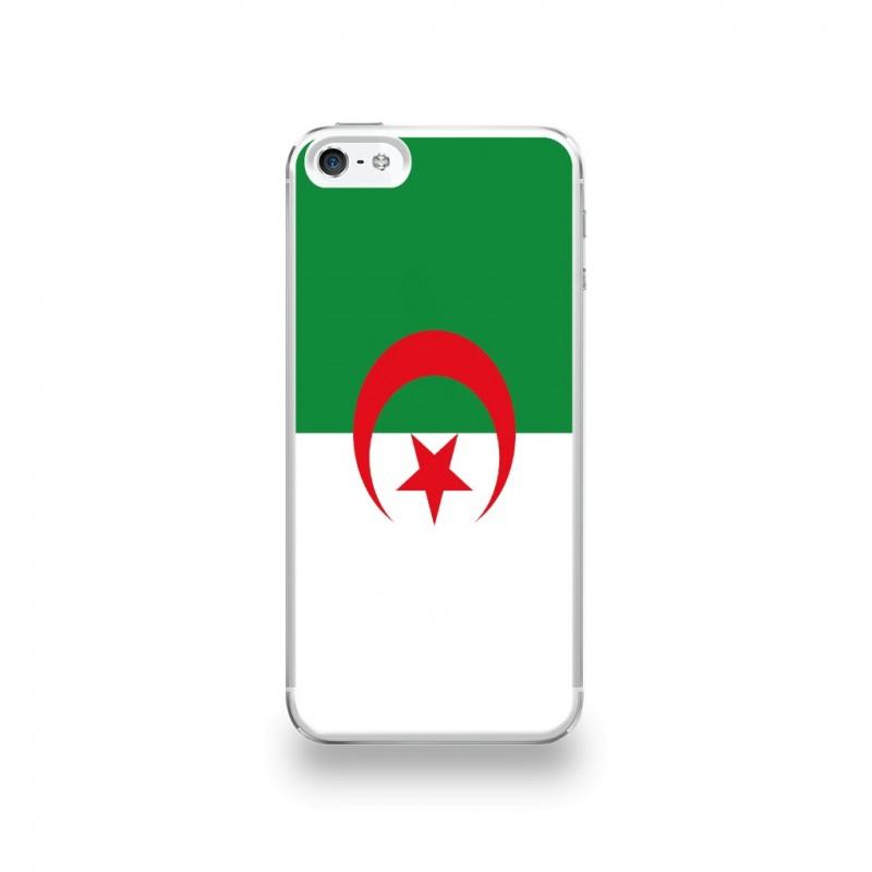 coque iphone 5 5s se silicone motif drapeau algerie