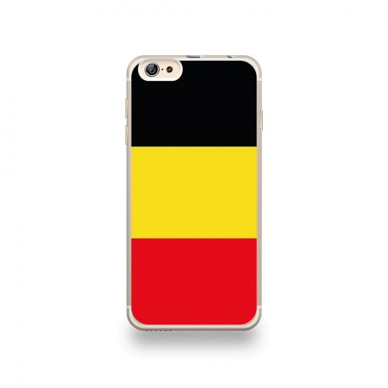 coque iphone 6 plus 6s plus silicone motif drapeau belgique