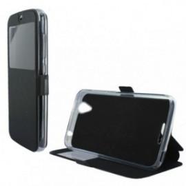 Etui Lenovo K6 Folio stand fenêtre noir