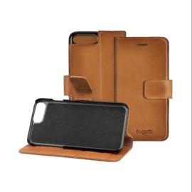 Etui iphone 7 plus Bugatti folio cuir pleine fleur Zurigo sable