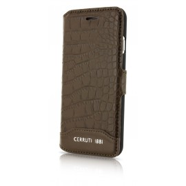 Etui iphone 7 plus Cerruti 1881 folio croco marron