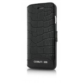 Etui iphone 7 Cerruti 1881 folio croco noir