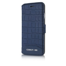 Etui iphone 7 plus Cerruti 1881 folio croco bleu