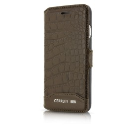 Etui iphone 7 Cerruti 1881 folio croco marron