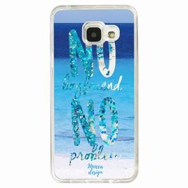 Coque Samsung A5 2016 gel no boyfriend no problem bleu
