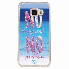 Coque Samsung A5 2016 gel no boyfriend no problem rose