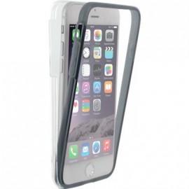 Coque iPhone 6 / 6S / 7 intégrale 360° Colorblock transparente et grise