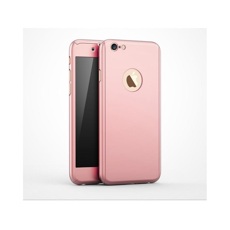 coque iphone 7 int grale 360 rose avec verre tremp destination telecom. Black Bedroom Furniture Sets. Home Design Ideas