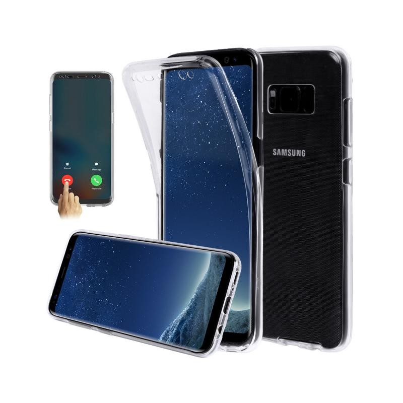 coque samsung galaxy s8 plus avant arri re silicone transparent destination telecom. Black Bedroom Furniture Sets. Home Design Ideas