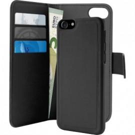 Etui iphone 7 Puro avec magnet détachable noir