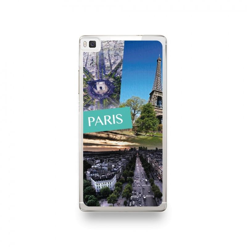 Coque Huawei P8 Lite 2017 / P9 Lite 2017 Silicone motif Vue de Paris