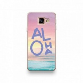 Coque HTC U11 Silicone motif Aloha Violet