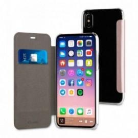 Muvit Etui Apple Iphone 8 Folio Case Or Rose