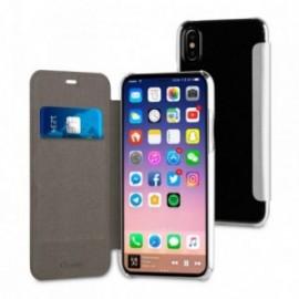 Muvit Etui Apple Iphone 8 Folio Case Argent