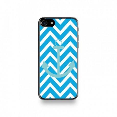 Coque Iphone X motif Bleu Ciel Sur Fond Bleu Turquoise