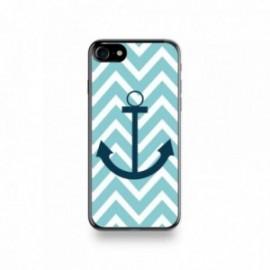Coque Iphone X motif Bleu Marine Sur Fond Bleu Ciel