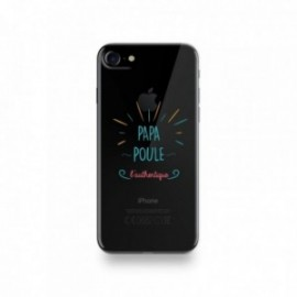 Coque Iphone X motif Papa Poule l'authentique