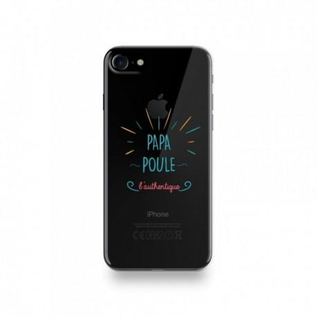 Coque Iphone X motif Papa Poule l'authentique