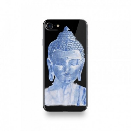 Coque Iphone X motif Buddha Bleu