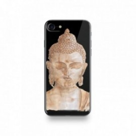 Coque Iphone X motif Buddha Marron