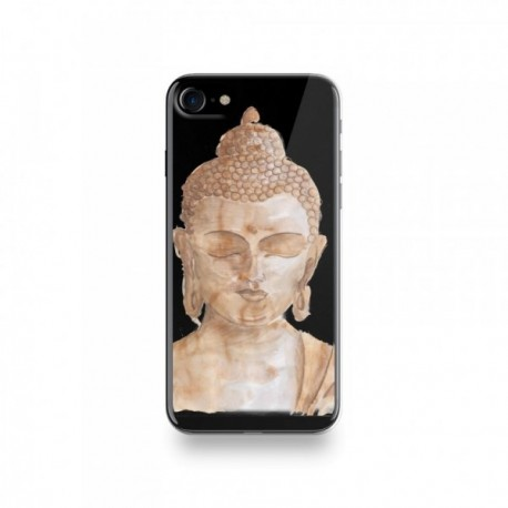 Coque Iphone X motif Buddha Marron